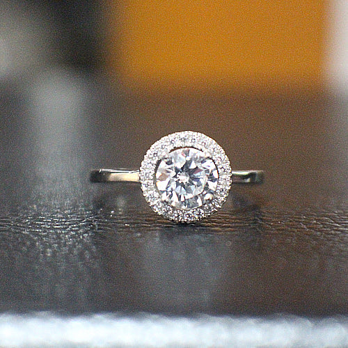 Sterling Silver Engagement Ring - 10AB50