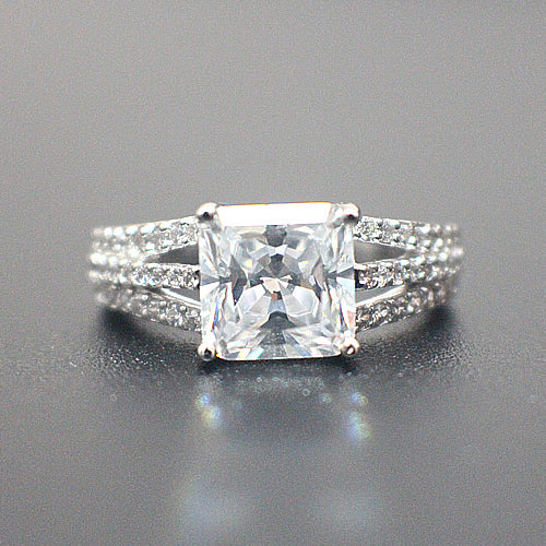Sterling Silver Engagement Ring- 10AB52