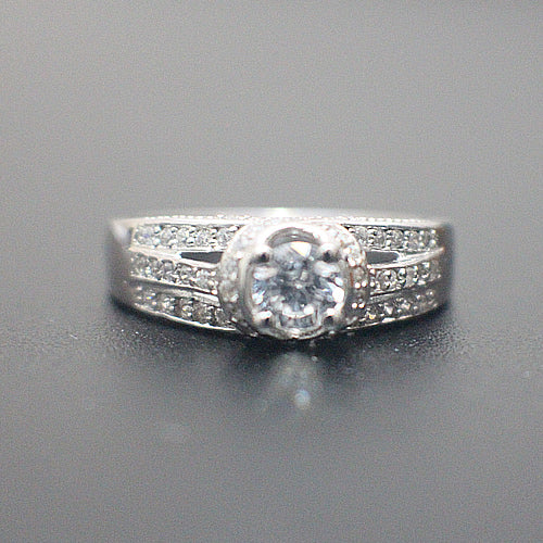 Sterling Silver Engagement Ring - 10AB54