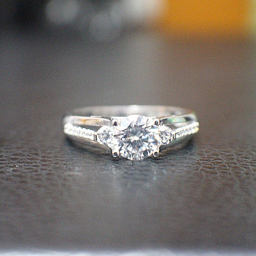 Sterling Silver Engagement Ring - 10AB55