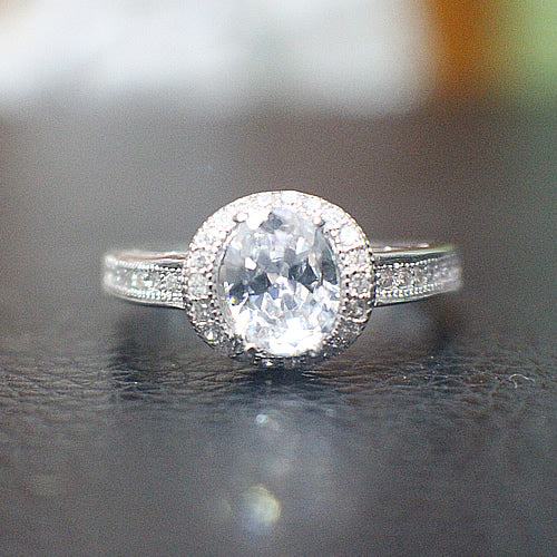 Sterling Silver Engagement Ring - 10AB59