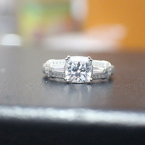 Sterling Silver Engagement Ring - 10AB77
