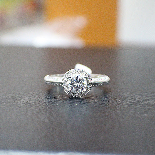 Sterling Silver Engagement Ring - 10AB78