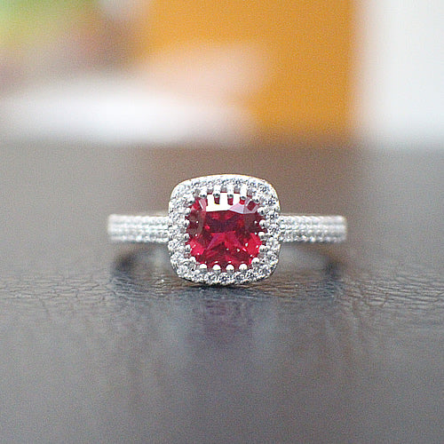 Ruby Engagement Ring - 10AB81