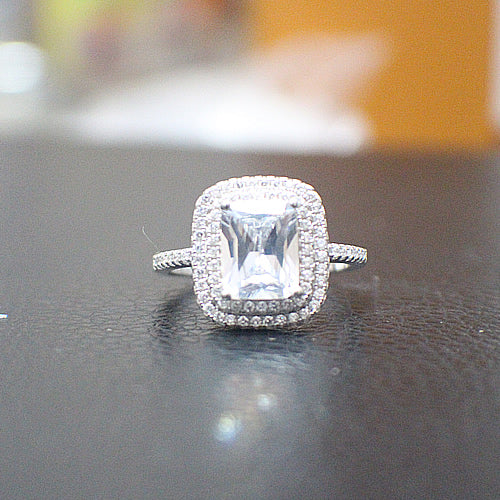 Sterling Silver Engagement Ring - 10AB82