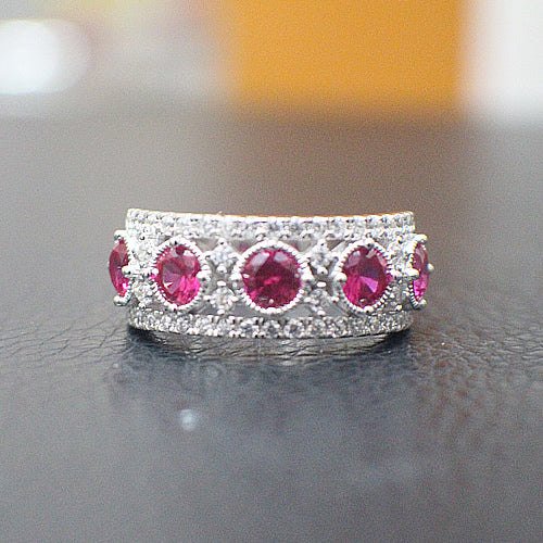 Ruby Engagement Ring - 10AB87