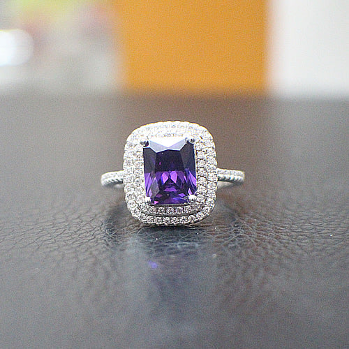 Amethyst Engagement Ring - 10AB88