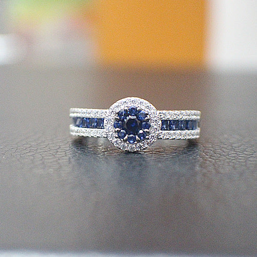 Sapphire Engagement Ring - 10AB90