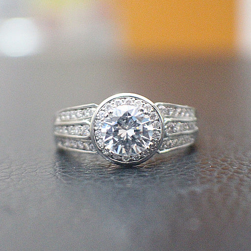 Sterling Silver Engagement Ring - 10AB94