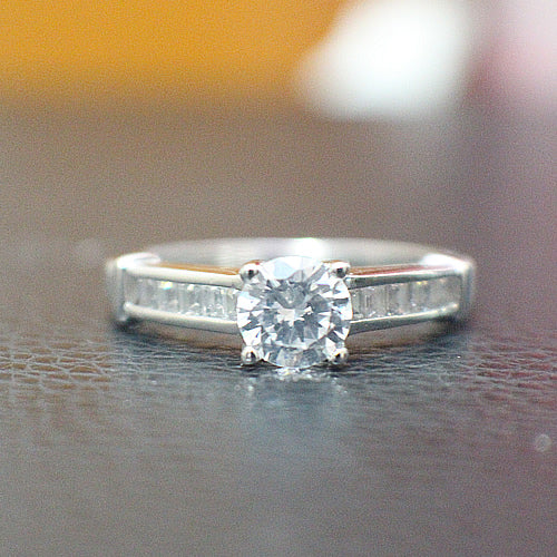 Sterling Silver Engagement Ring - 10AB95
