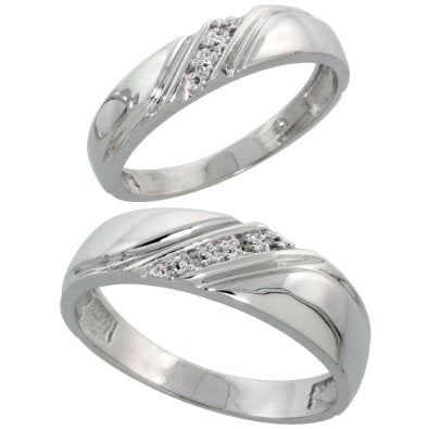 STERLING SILVER/DIAMOND BAND