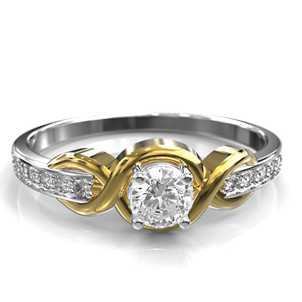 GOLD ENGAGEMENT RING - 10GG02