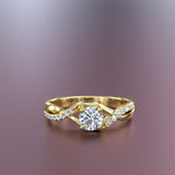 GOLD ENGAGEMENT RING - 10GG05