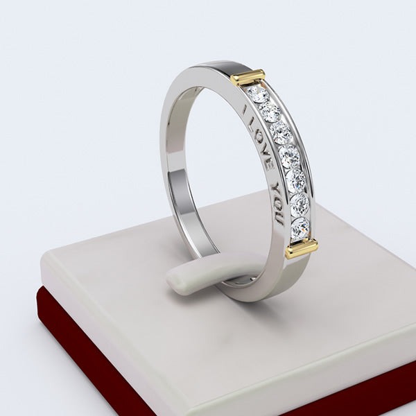 GOLD ENGAGEMENT RING - 10GG13