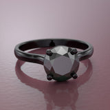 Black Rhodium Gold Engagement Ring - 10GG81