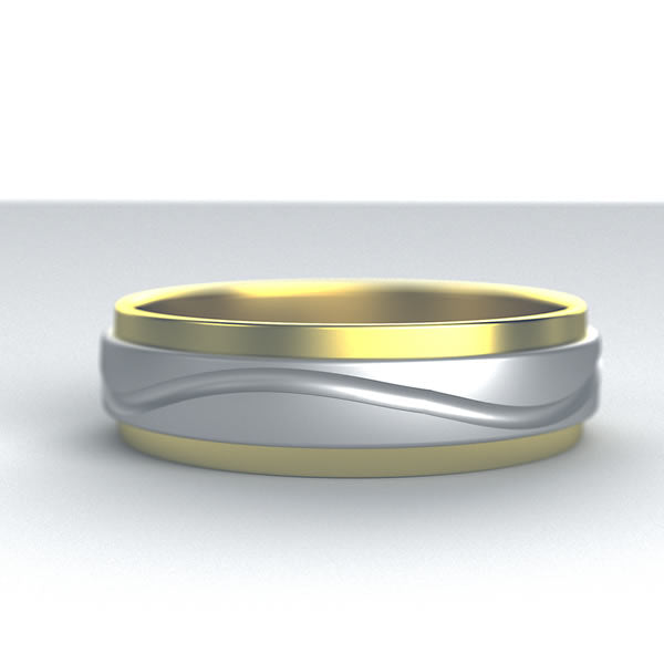 Two tone Wedding Band - 10GG87