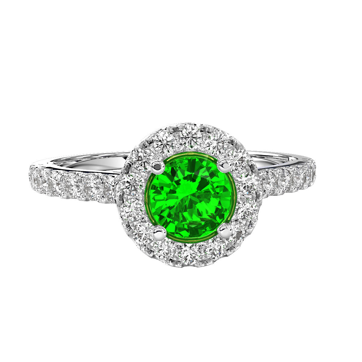 Gold Engagement ring with Emerald - 10GG97