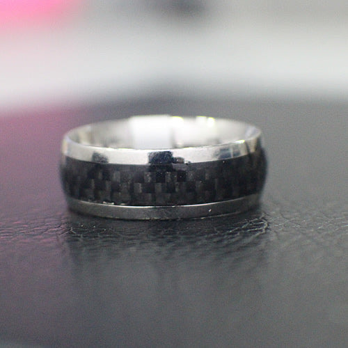 Stainless Steel Wedding Band - 11AB79