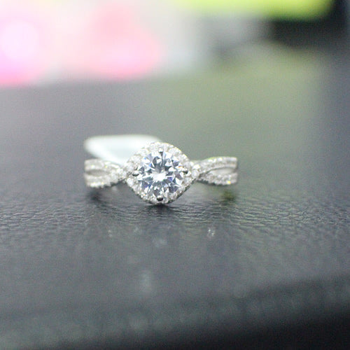 Sterling Silver Engagement Ring - 11AB48