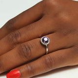 Sterling Silver Engagement Ring - 11AB63
