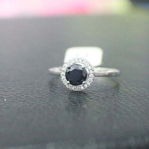 Sterling Silver Engagement Ring - 11AB64