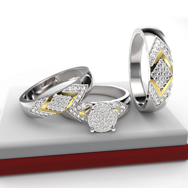 GOLD WEDDING SET - 11GG56