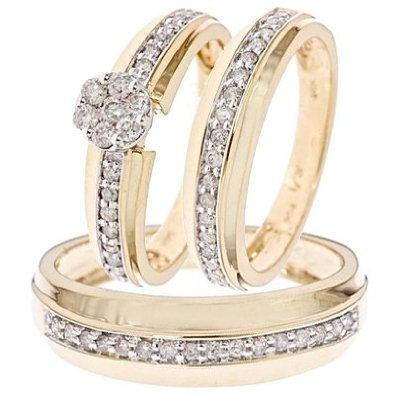 Round Cut Diamond Ring Set - 12GG86
