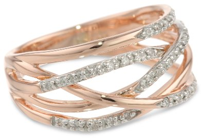 10k Rose Gold Diamond Ring - 12GG79