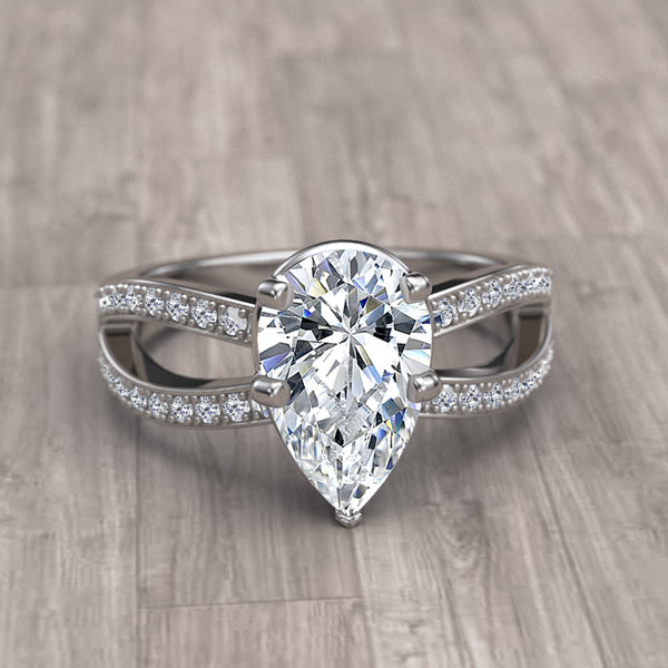 Pear Cut  Engagement Ring -12GG95