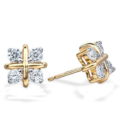 .80ct Diamond Hugs and Kisses Diamond Earrings - 12RR32