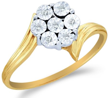 Two 2 Tone Gold Diamond Engagement Ring