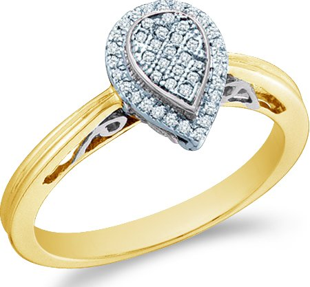 Yellow OR White Gold Pear Shape Diamond Engagement Ring