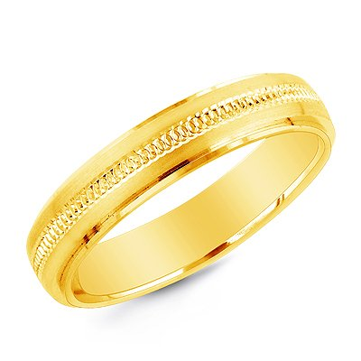 18K Yellow Gold 5mm Wedding Band