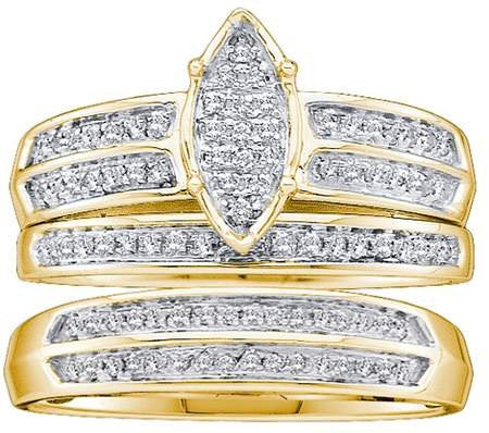 Real Diamond Wedding Set