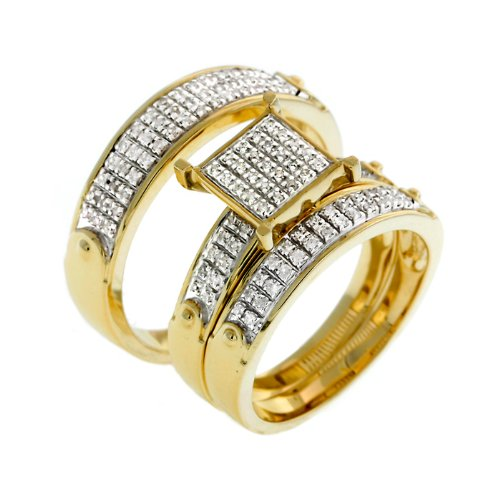 0.40 CT Diamond Wedding Trio Set - 14GG17