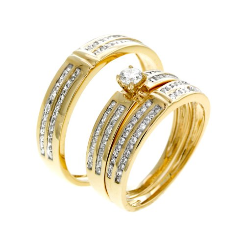 0.79 CT Brilliant Diamond Wedding Set - 14GG22