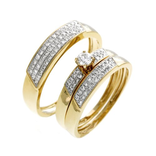 0.60 CT Round Diamond Wedding Set - 14GG23