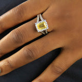 Sterling Silver Engagement Ring - 15AB57