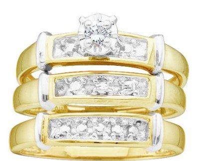 10K Yellow and White Gold Complete Set - 15GG10