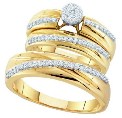 0.40CTW DIAMOND Wedding Set - 15GG12