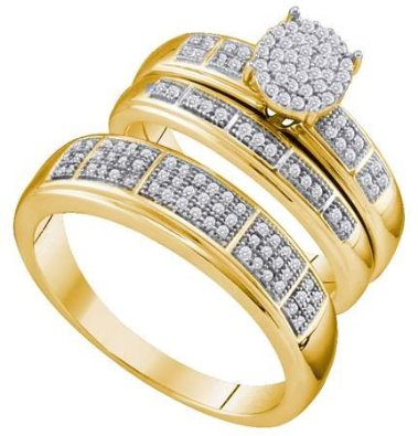 0.33CTW DIAMOND MICRO PAVE TRIO SET -15GG19