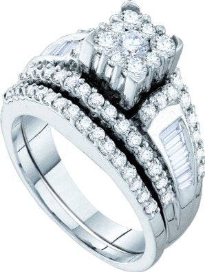 1.47CT White Diamond Bridal Set - 15GG25