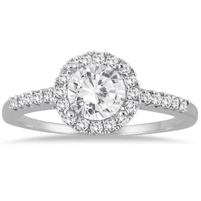 1 Carat T.W Diamond Halo Engagement Ring - 15GG32