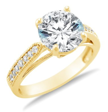 Solid 14k Engagement Ring - 15GG35