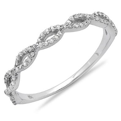 Diamond Ladies Swirl Anniversary Wedding Band  - 16GG04