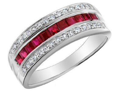 Ruby Ring with Diamonds - 16GG06