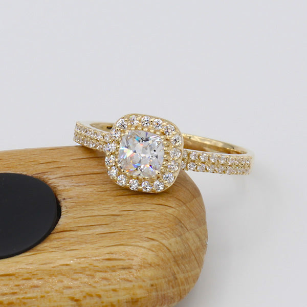 10k Yellow Gold Engagement Ring - 16GG10Y-7