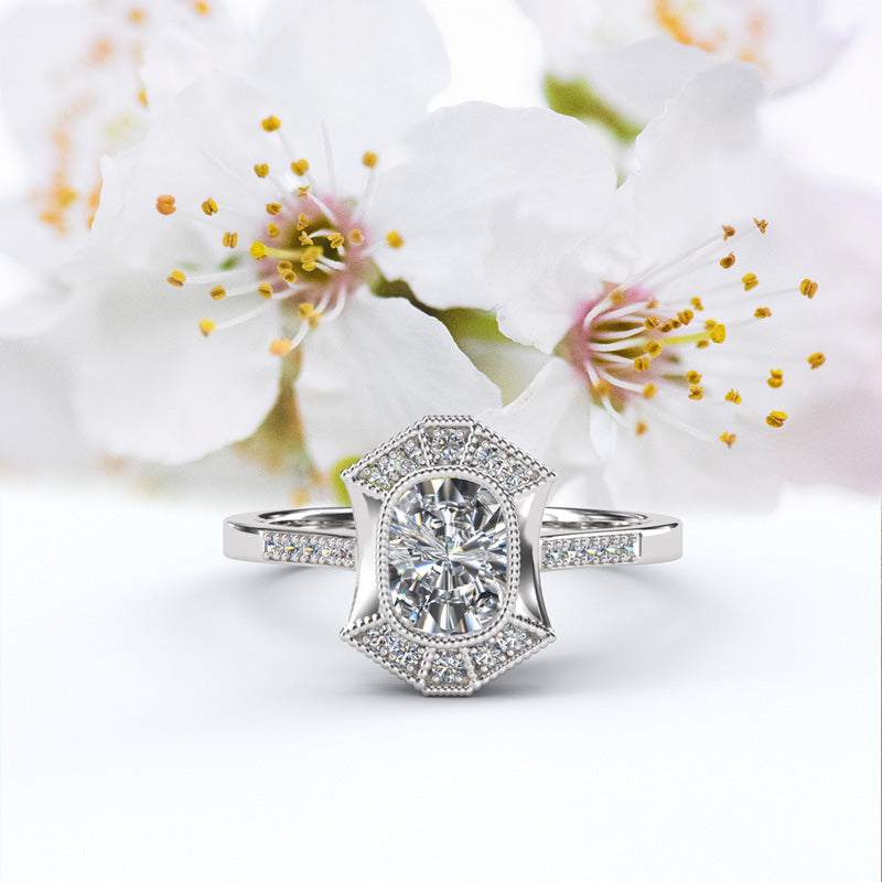 Cushion Cut Halo Engagement Ring - 16GG57