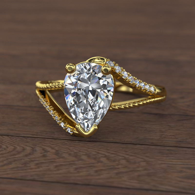 Gold Engagement Ring- 16GG83