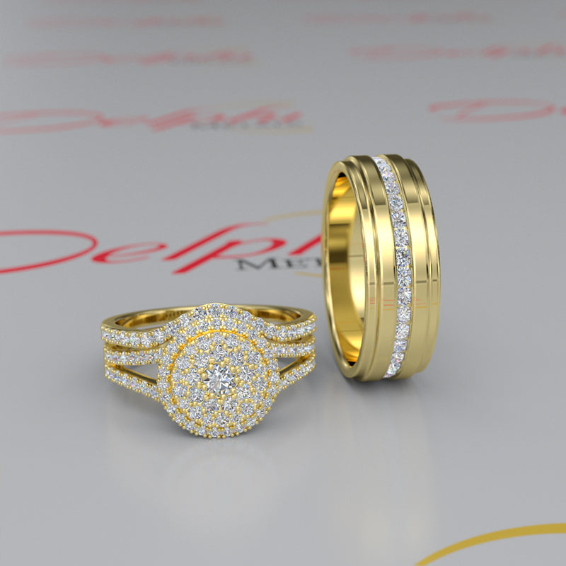 Gold Complete Wedding Set - 16GG91
